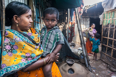 Life In Urban Slums of Dhaka. Bangladesh.