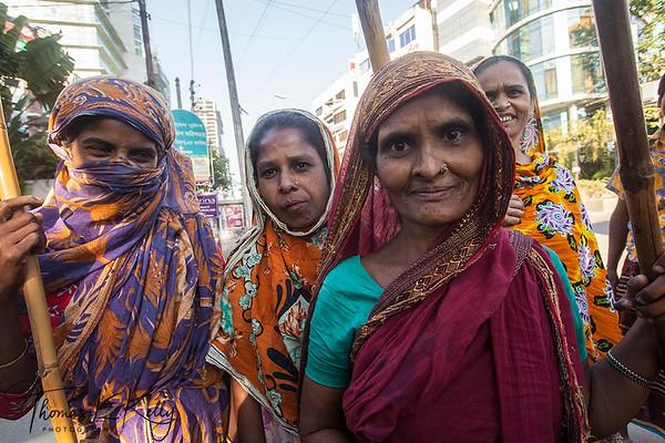Dhaka Street Scenic. Bangladesh.