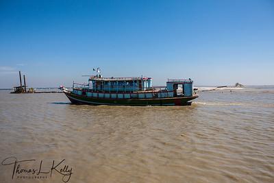 Ferry Ride to Borguna Village. Bangladesh.