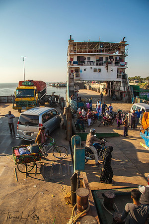 Ferry Ride to Borguna Village. Bangladesh.