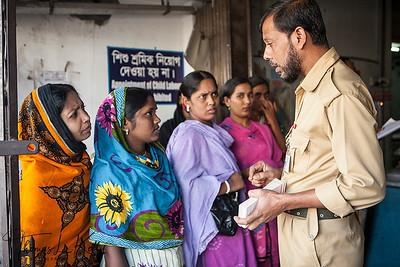 Garment Factory Workerss. Mirour, Dhaka, Bangladesh.