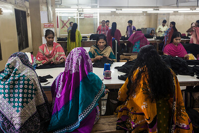 Garment Factory in Mirour. Dhaka, Bangladesh.