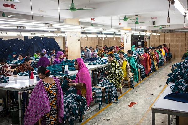 Garment Factory in Mirour. Dhaka, Bangladesh.