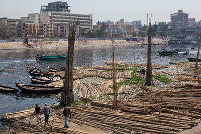 Buriganga River in Dhaka, Bangladesh.