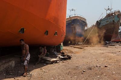 Sadarghat Port in Dhaka, Bangladesh.
