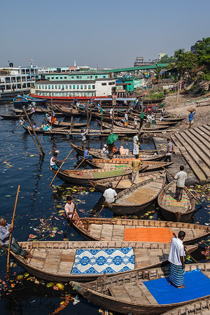Buriganga River boat ride. Dhaka, Bangladesh.