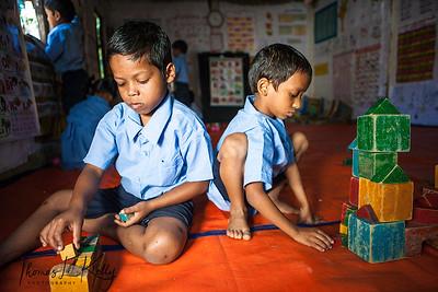 Pre-School in Malinchora Village. Bangladesh.