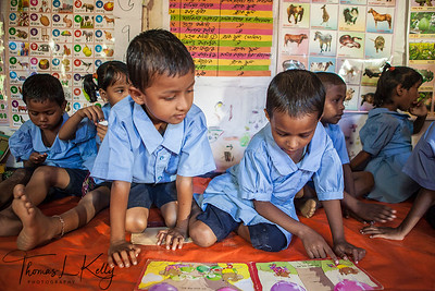 Pre-School in Malinchora Village. Bangladesh.