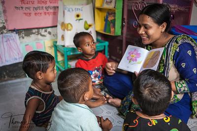 Pre School for Slum Kids. Dhaka, Bangladesh.