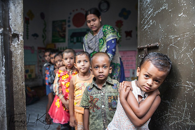 Pre School for Slum Kids. Dhaka, Bangladesh.