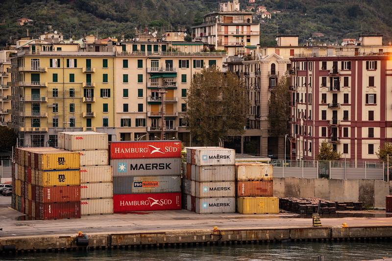 Containers; Port of La Spezia; Italy