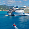 Harbor Pilot Boat and Cruise Ships, St. Maarten