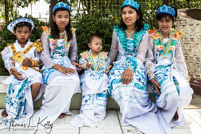 Shin Pyu Celebration for Myanmar Girls.