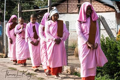 Burmese Nuns. Pyin Oo Lwin.