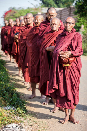 Burmese Monks. Pyin Oo Lwin.