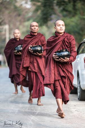 Burmese Monk. Pyin Oo Lwin.