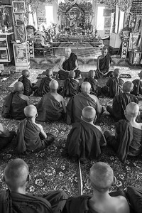 Meditating Monks. Pyin Oo Lwin.