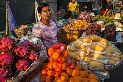 Fruit Market, Downtown Yangon.
