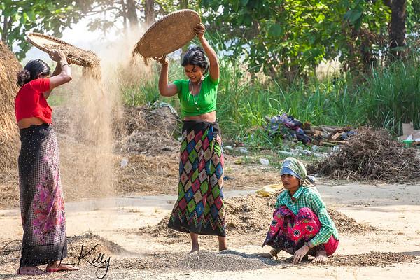 Sagoon Basti Village. Myanmar.