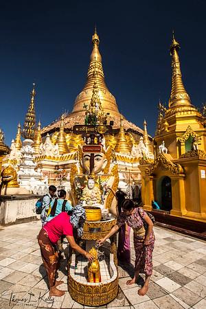 Shwedagon Paya, temple in Yangon.