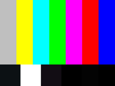 Abstract image in the style of television color test bars - FOR ILLUSTRATION ONLY