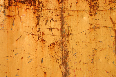 Orange paint and rust abstract background