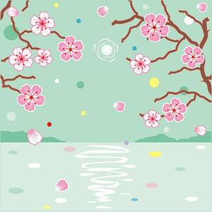 Floral pattern spring background or design element rasterized vector illustration