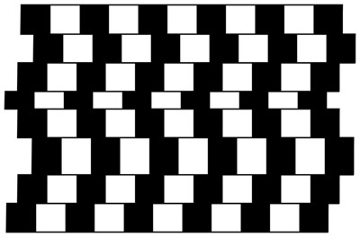 Lines are parallel but seem to be slanted.