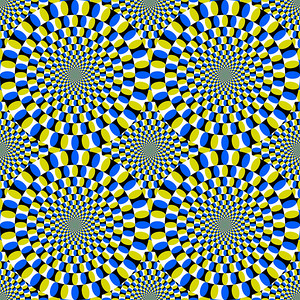 Crazy spinning circles. This is a static image, it contains no animation.