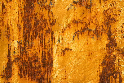 Photo of the texture of rusty painted metal