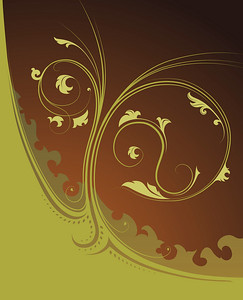 Beautiful decorative floral ornament - detailed vector illustration