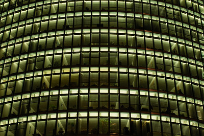 Modern Office Building, Nightshot