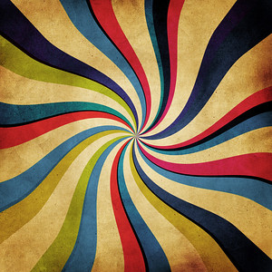 abstract twirl pattern on vintage paper background