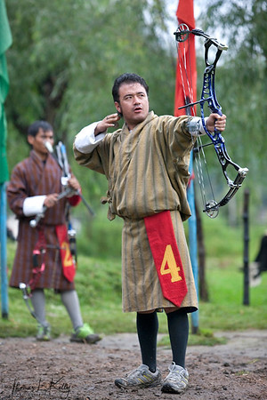 Bhutan's national sport is archery, and competitions are held regularly in most villages.