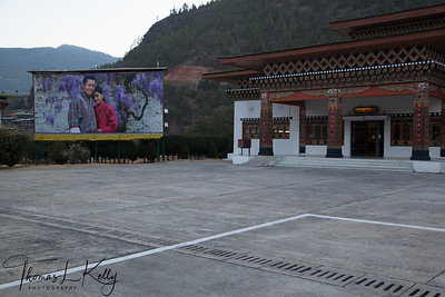 International Airport in Paro, Bhutan.