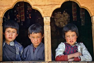 Bhutanese kids.