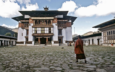 Gangtey Monastery before renovation.  Phobjika, Bhutan.