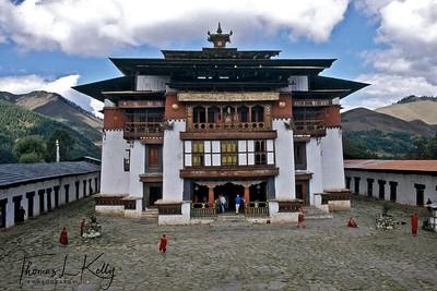 Gangtey Monastery before renovation.  Phobjika, Bhutan.