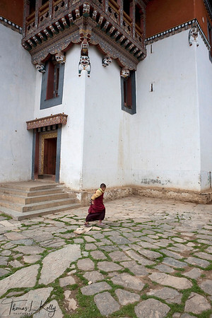 Newly constructed Gangtey Monastery in Phobjika. Bhutan.