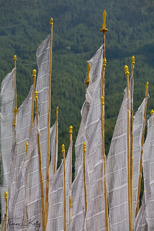 Prayer flags, Bhumthang, Bhutan.