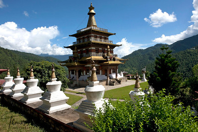 Khamsum Yuelley Namgyel chorten built by Queen Mother for  his son Druk Gyalpo, Jigme Khesar Namgyel Wangchuk.