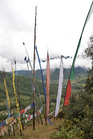 Prayer flags. Taang Valley.