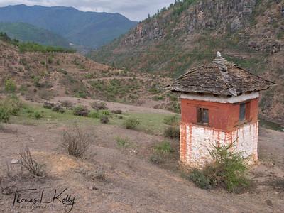Chortens at Namseling Valley, just outside Thimpu.
