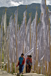 Prayer flags, Bumtang.