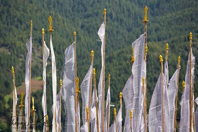 Prayer flags, Bumtang.