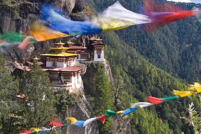 Paro Taktsang Monastery.  Paro Valley, Bhutan.