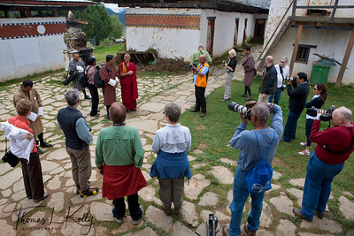 Tshedra, a monastic school, where Bhutanese people study to become a monk.   Outskirts of Phobjika. Bhutan.