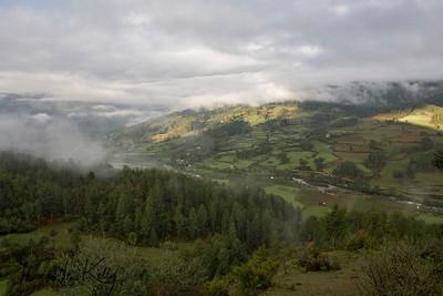Overview of Bumthang. Bhutan