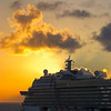 Cruise Ship Sunset