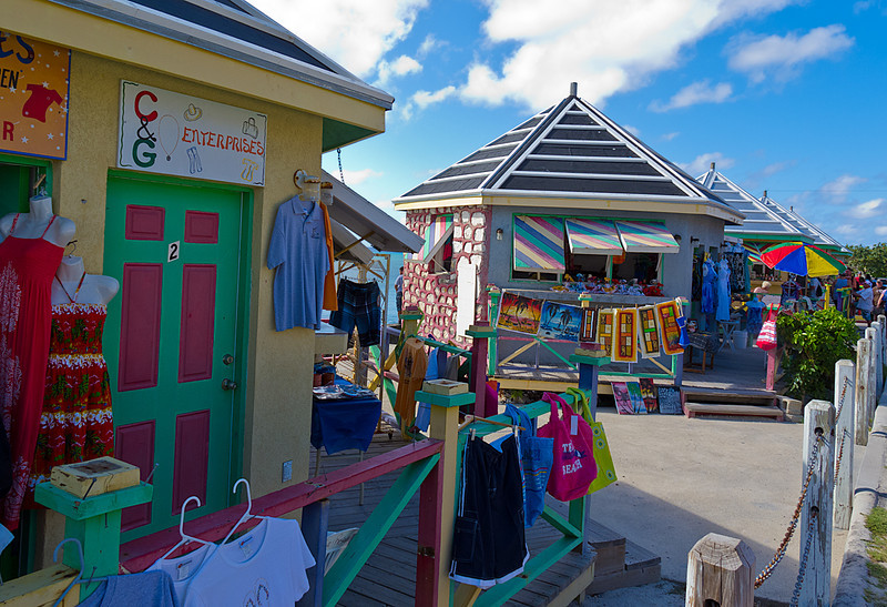 Colorful Beach Shops